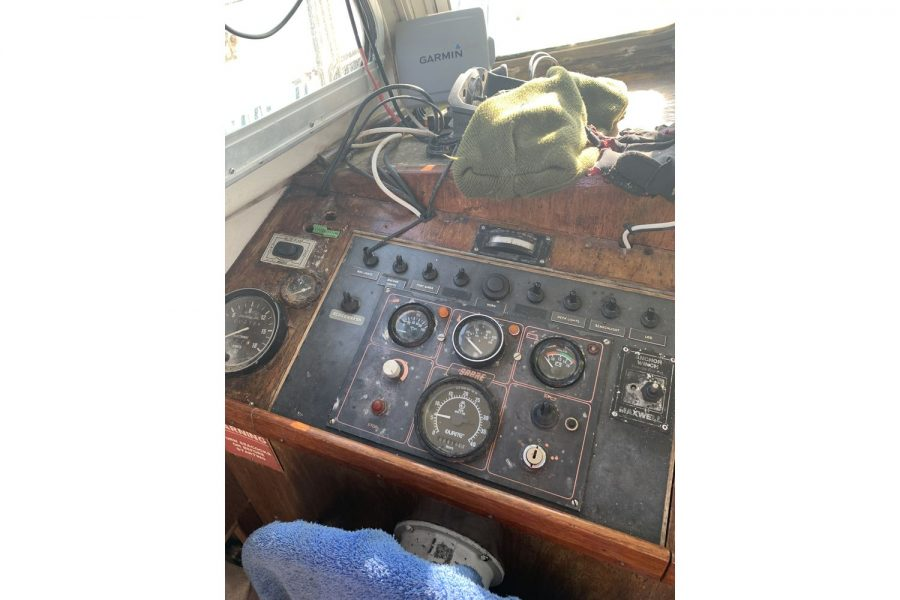 Newhaven Warrior fishing boat - helm position and dash