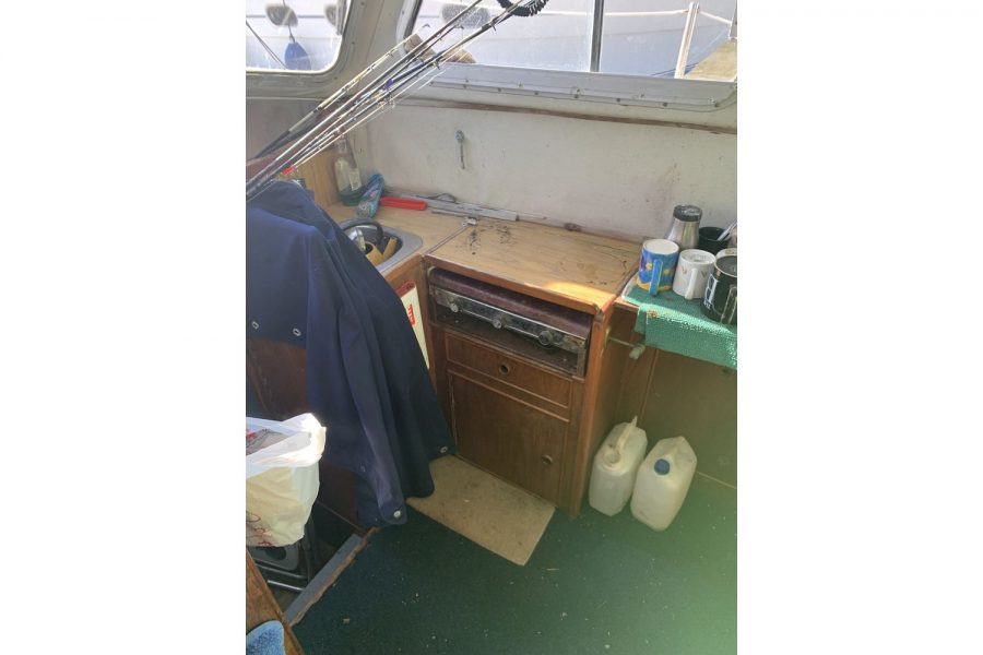 Newhaven Warrior fishing boat - galley