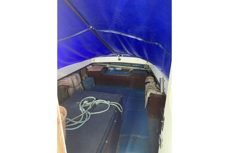 Newhaven Warrior fishing boat - cockpit under canopy