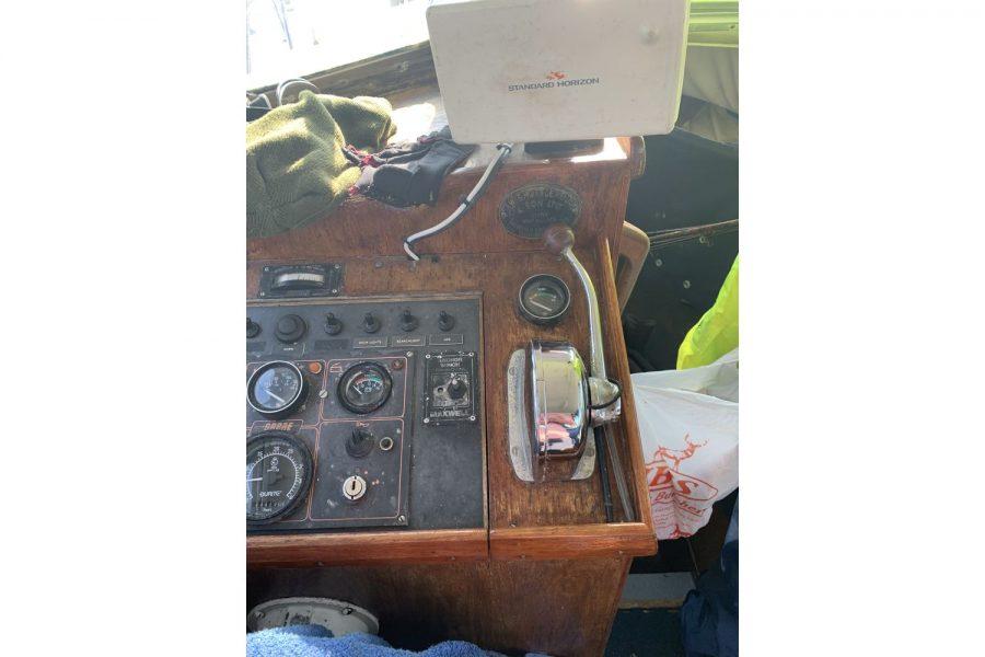 Newhaven Warrior fishing boat - dash and navigation electronics