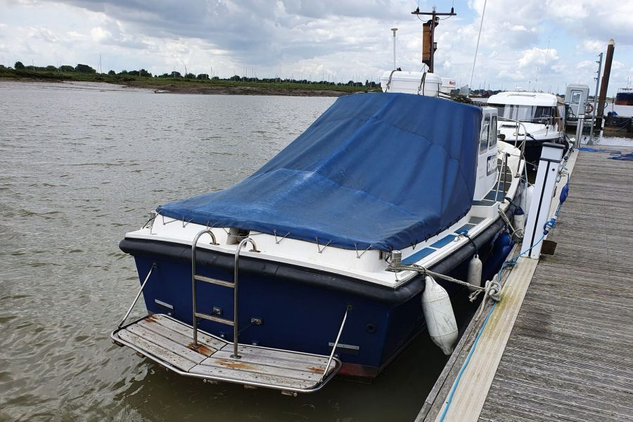 Newhaven Warrior fishing boat - starboard side aft