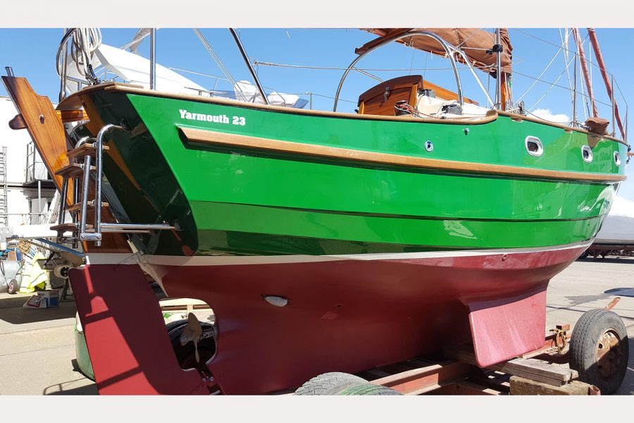 Yarmouth 23 Gaff Rig Topsail Cutter restored by Morgan Marine - hull