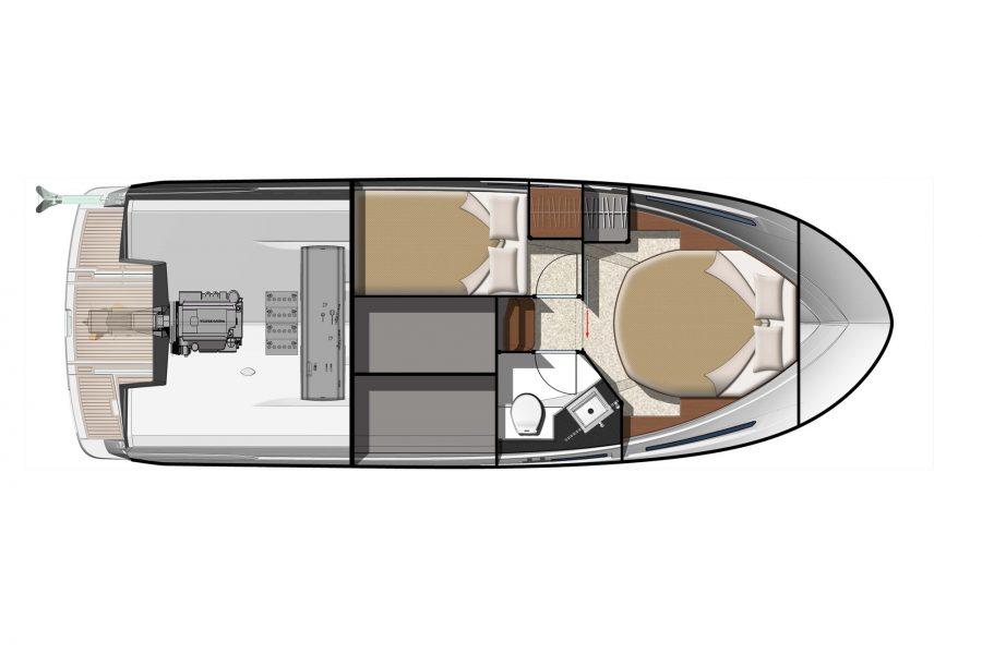 Jeanneau NC 9 Diesel - diagram