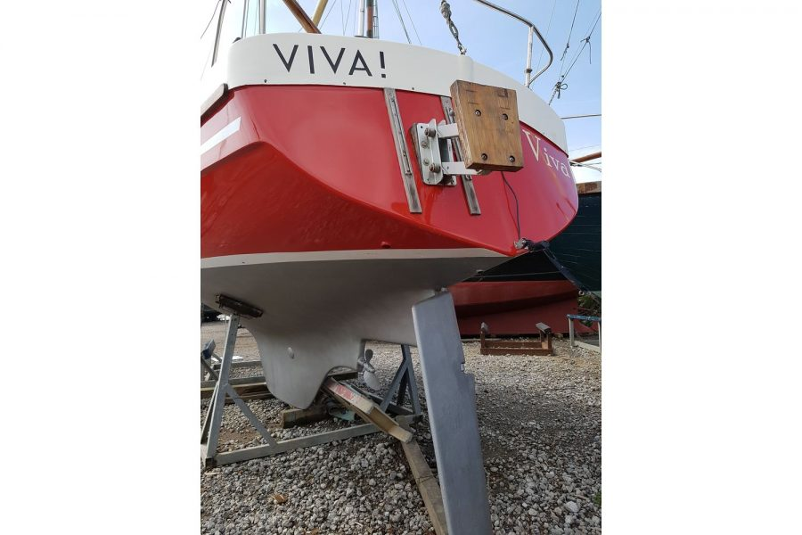 Gallion 22 Long Keel - transom and rudder