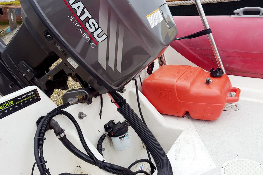 Porters Renegade RIB - fuel tank for aux engine