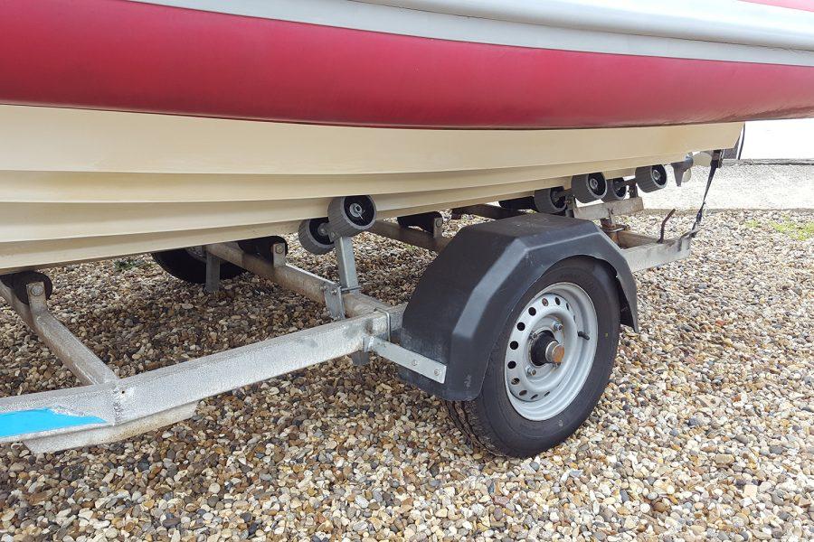 Porters Tohatsu 5.8m RIB - 2 wheel trailer