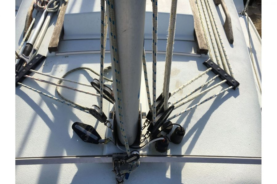 Hunter Horizon 23 - aluminium mast