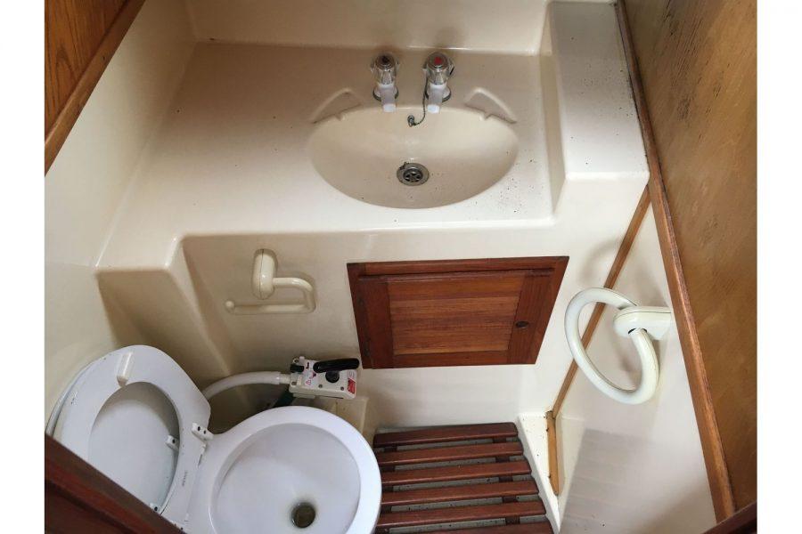 De Groot 10m steel diesel cruiser - toilet compartment