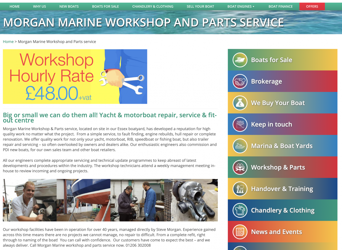 Morgan Marine Workshop and Parts service