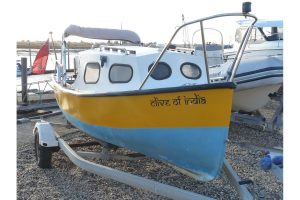 16ft traditional fishing boat with cuddy