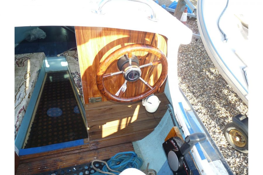 16ft traditional fishing cuddy - cockpit