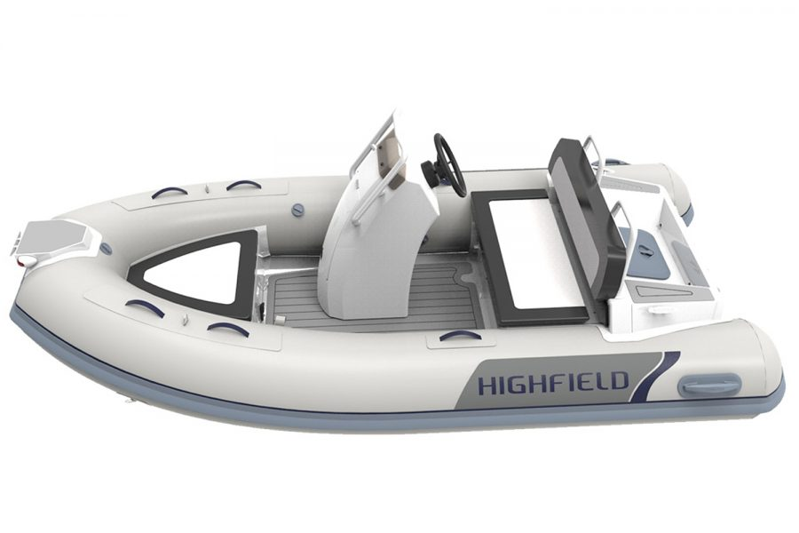 Highfield CL380 aluminium RIB - port side diagram