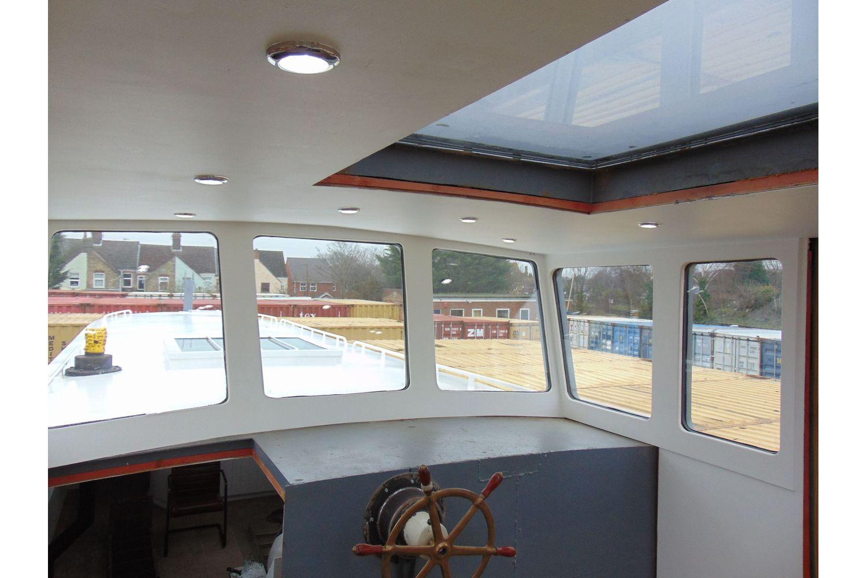 50ft steel barge - helm position