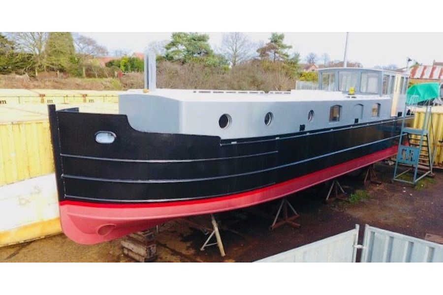 50ft steel barge - port side bow