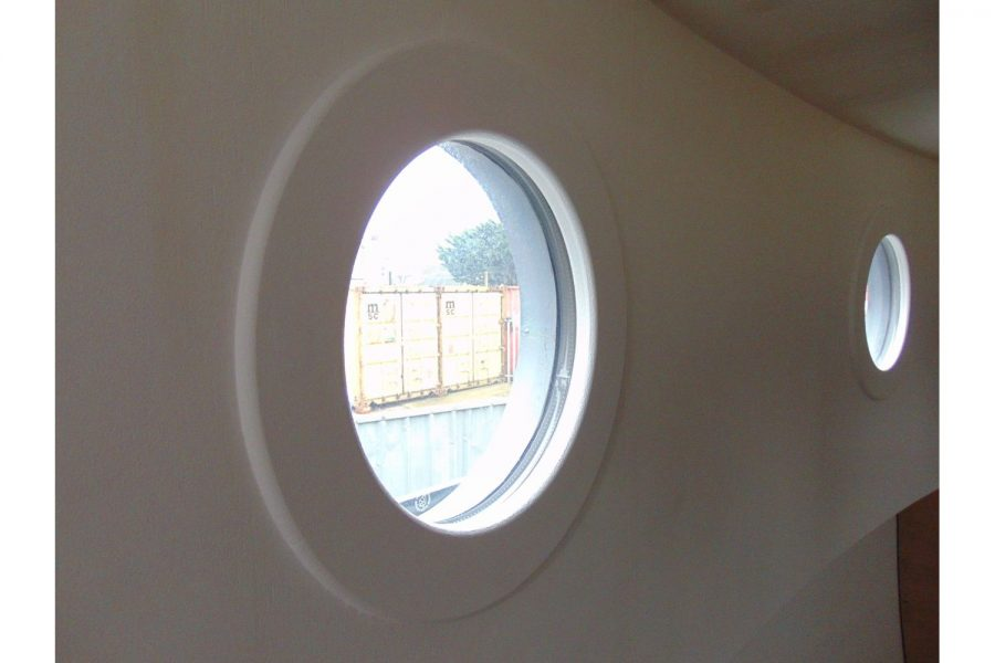 50ft steel barge - porthole
