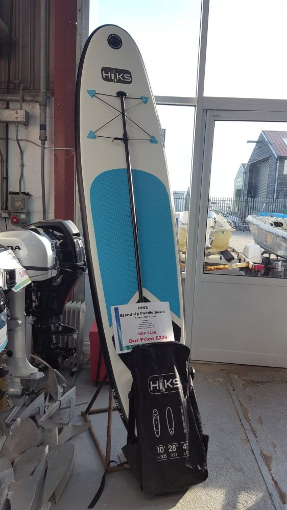 Inflatable HIKS Blue 10ft Stand Up Paddle Board. Perfect for all ability Levels.