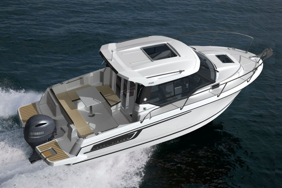 Jeanneau Merry Fisher 795 - overhead view