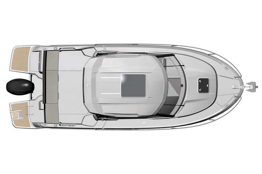 Jeanneau Merry Fisher 795 - diagram above view