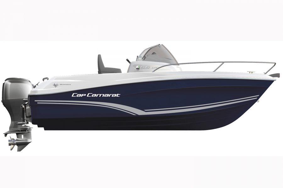 Jeanneau Cap Camarat 5.5 WA -hull diagram