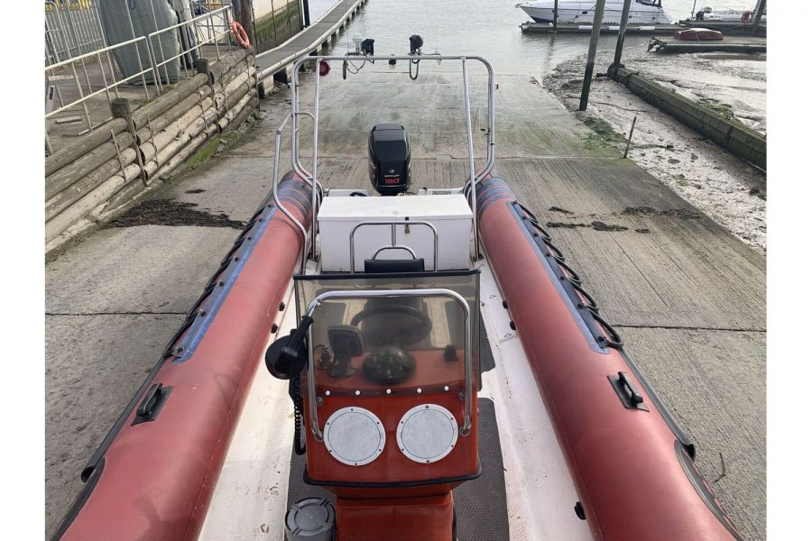 Cobra 7.5m RIB - view from bow