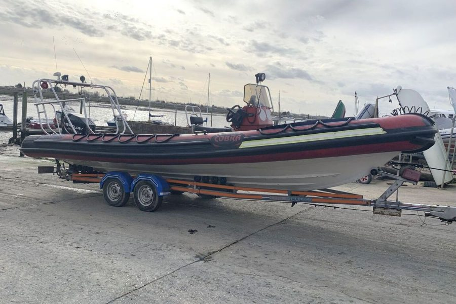 Cobra 7.5m RIB - on slipway