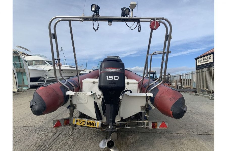 Cobra 7.5m RIB - view from stern