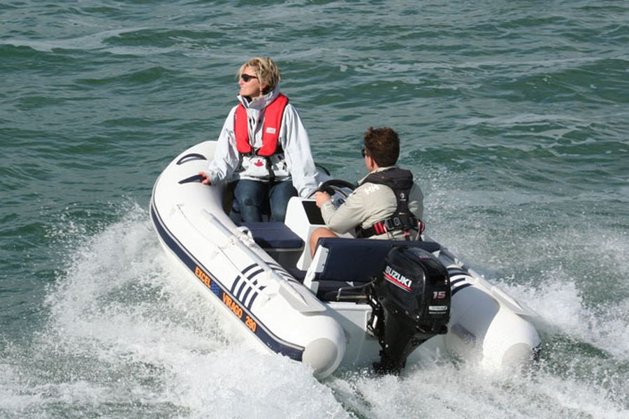 Excel Virago 290 mini RIB - on the water