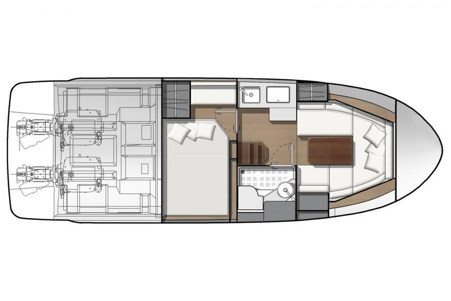 Jeanneau Leader 30 - layout diagram
