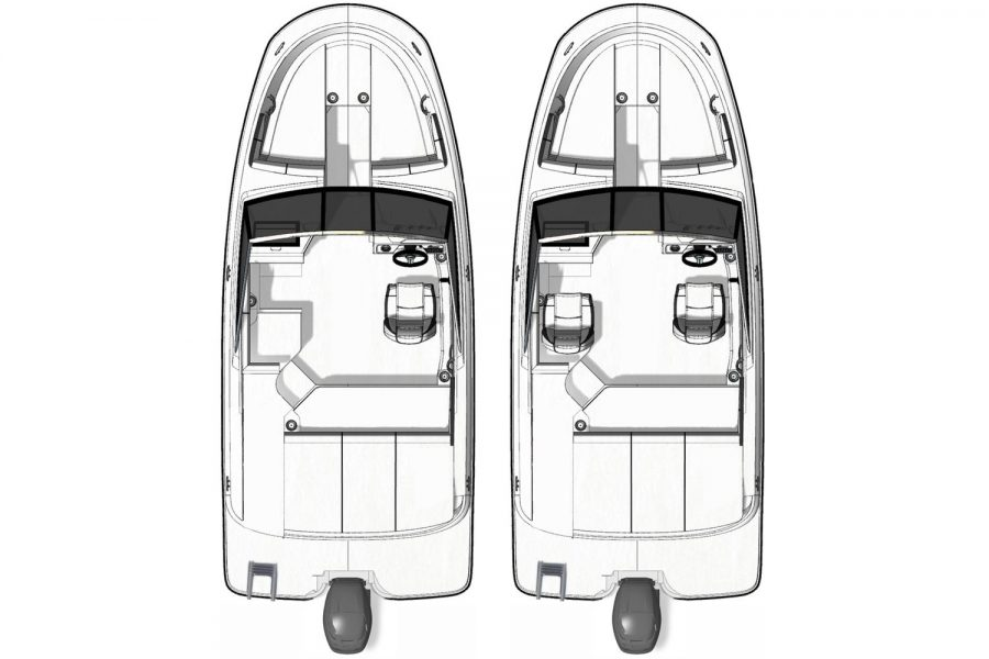 Sea Ray SPX 190 OB - layout diagram
