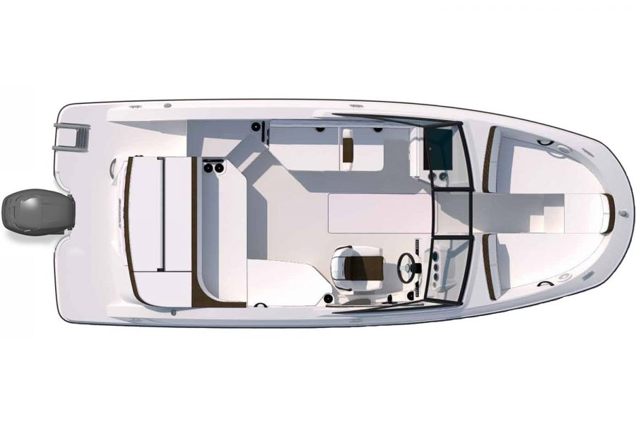 Sea Ray SPX 210 - layout diagram 1