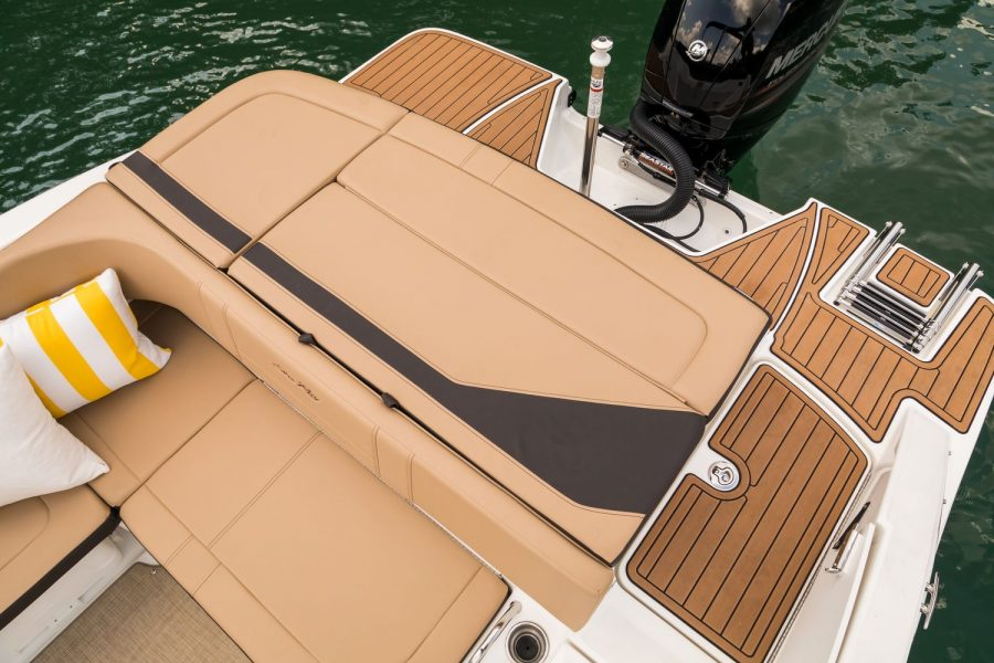 Sea Ray SPX 210 - aft sunpad and swim platforms
