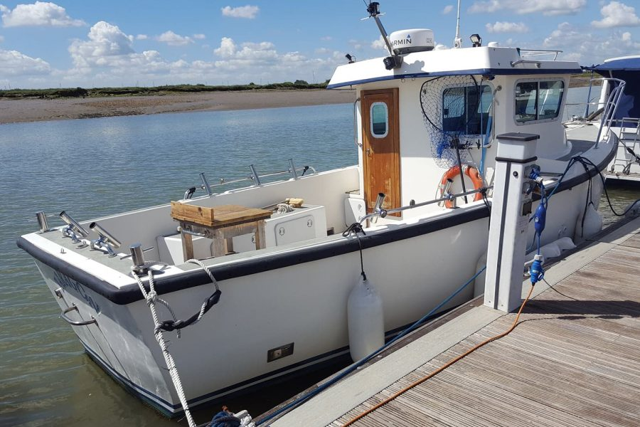 Cox 27 Family Fisher - on mooring