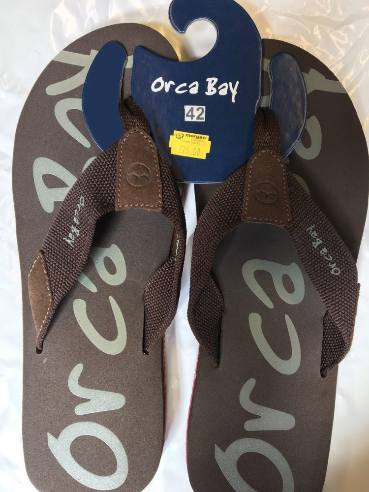 Orca Bay Flip flops £25 available in brown or navy