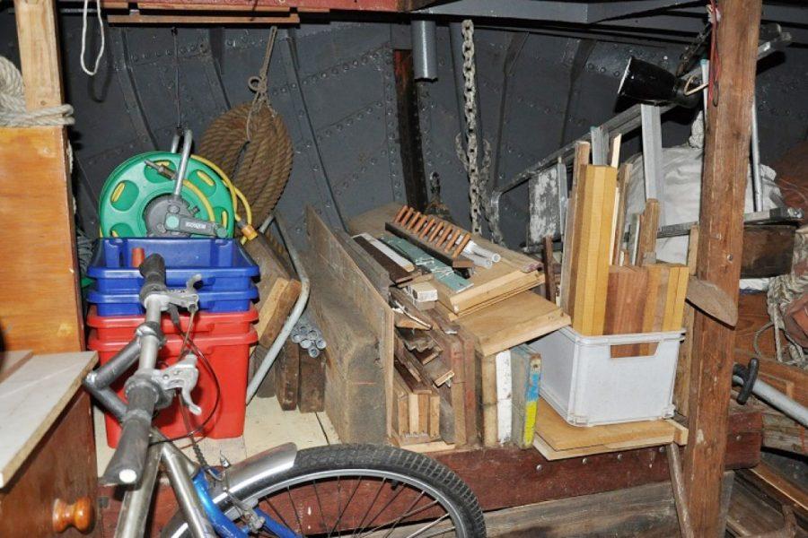 Tjalk 17m Dutch Motor Sailing Barge - storage compartment