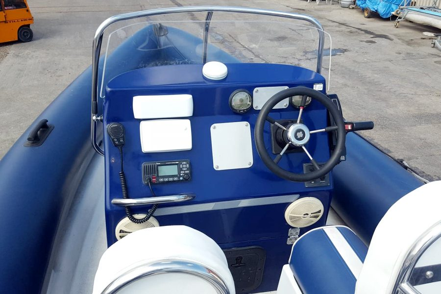 Porters 6.5m RIB - helm position with navigation electronics