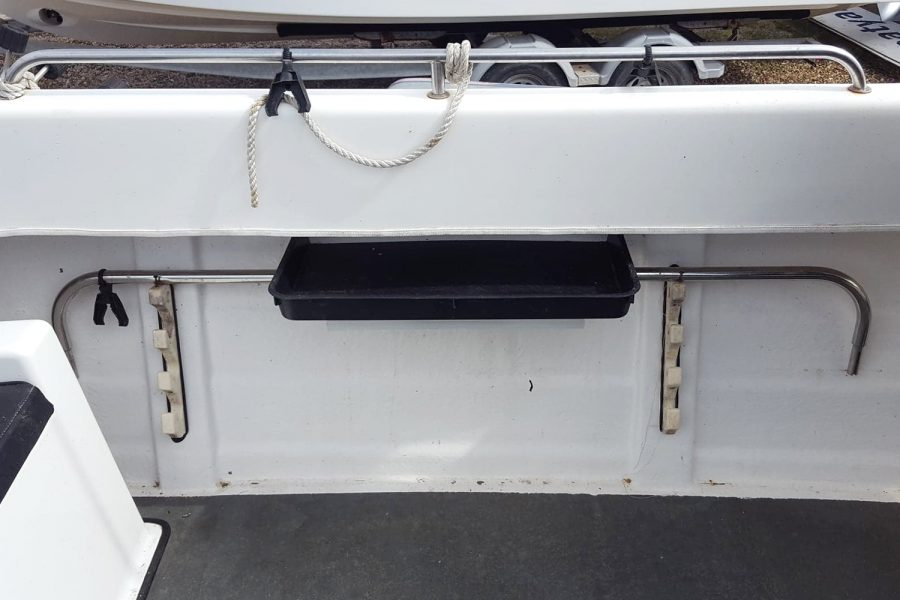 Warrior 175 fishing boat - rod holders