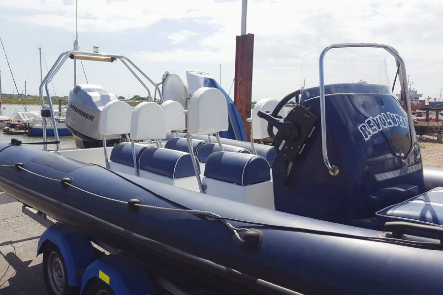 Porters 6.5m RIB - port side and transom
