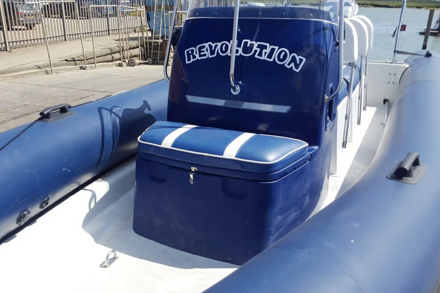 Porters 6.5m RIB - seat in bow
