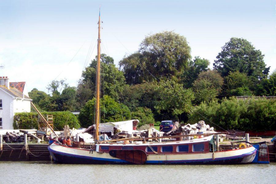 Tjalk 17m Dutch Motor Sailing Barge - on mooring