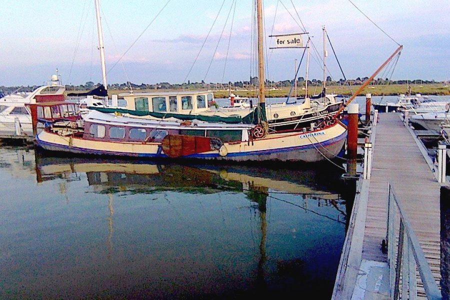 Tjalk 17m Dutch Motor Sailing Barge - in beautiful surroundings