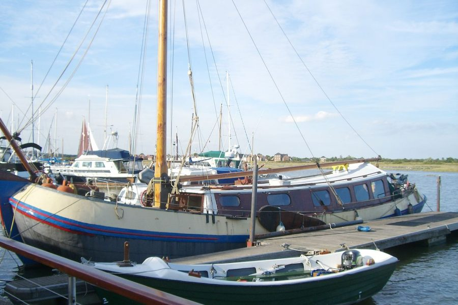 Tjalk 17m Dutch Motor Sailing Barge - with other boats