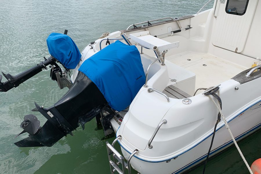 Quicksilver 640 - transom and outboard