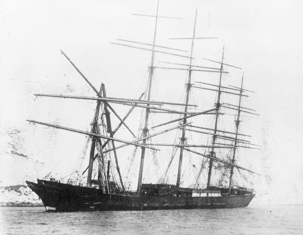 The first five-masted tall ship
