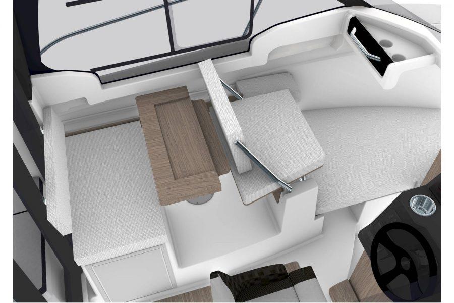 Jeanneau Merry Fisher 695 Legend - Series 2 - wheelhouse starboard side saloon render
