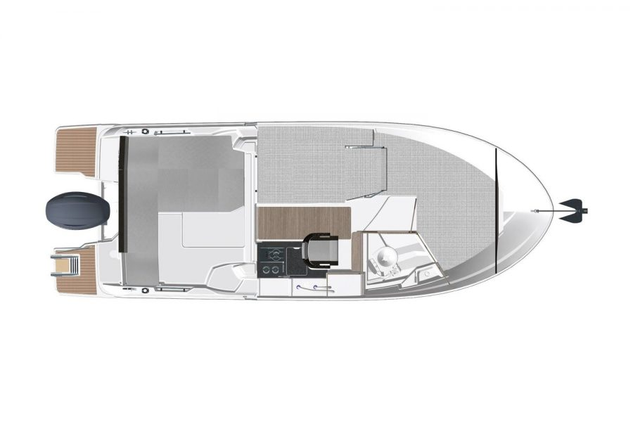 Jeanneau Merry Fisher 695 Legend - Series 2 - overhead view interior diagram