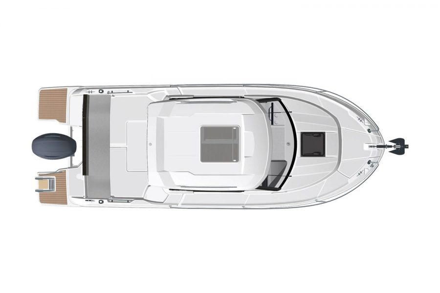 Jeanneau Merry Fisher 695 Legend - Series 2 - overhead view exterior diagram