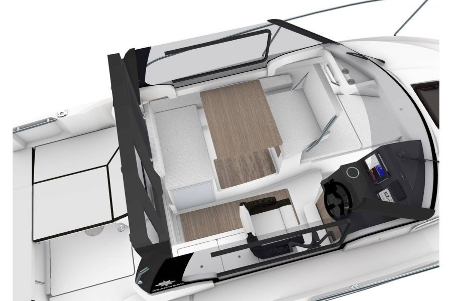 Jeanneau Merry Fisher 695 Legend - Series 2 - overhead view interior render