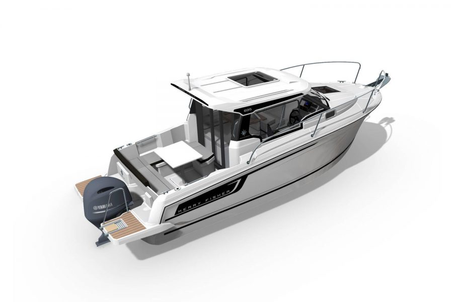 Jeanneau Merry Fisher 695 Legend - Series 2 - overhead view exterior render