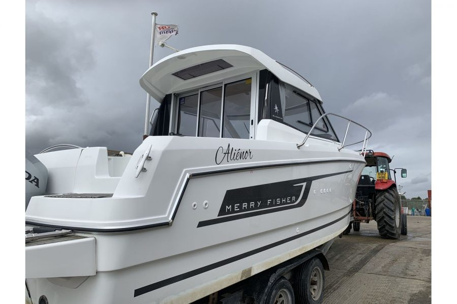 Jeanneau Merry Fisher 755 - fishing boat - port side aft
