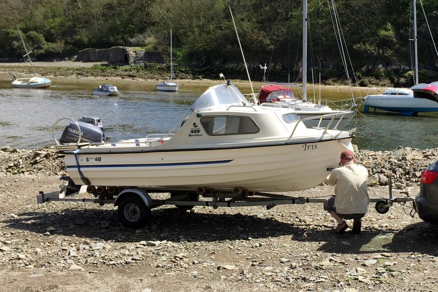 Bonwitco 449c Cabin Cruiser - on a trailer